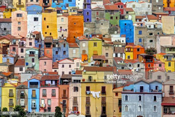 Colored houses of Bosa, Sardinia