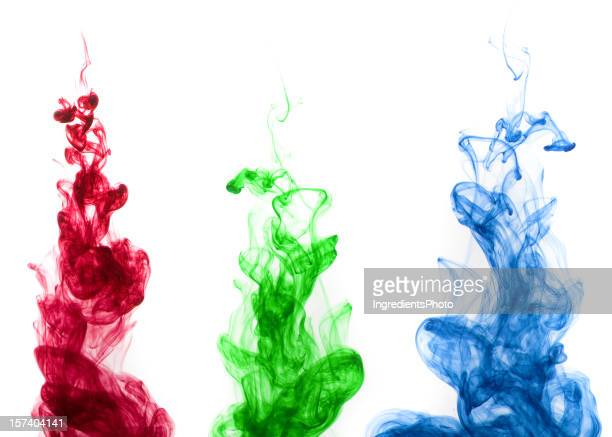 Colored ink drop