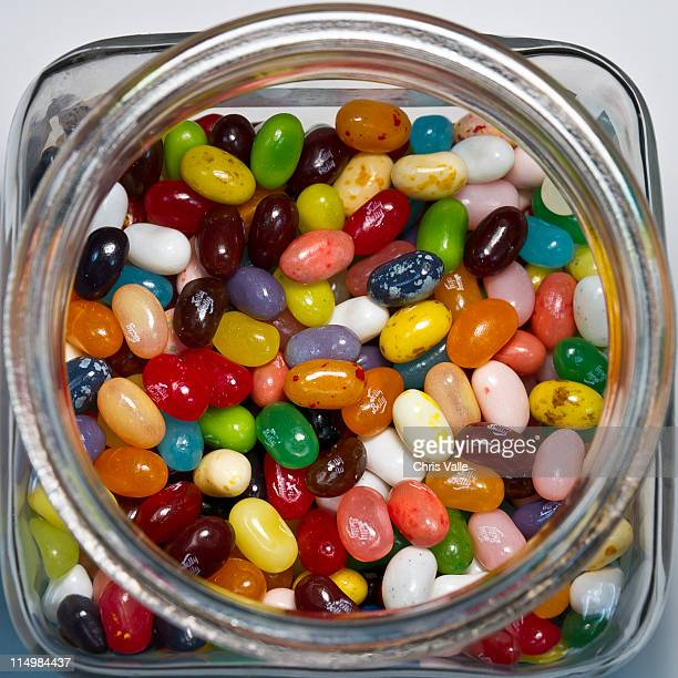Colored jelly beans