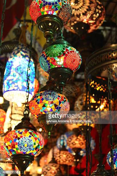 Colored lamps for sale in the Grand Bazaar, Istanbul