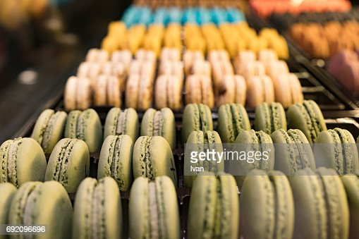 Colored Macaroon Biscuits For Sale