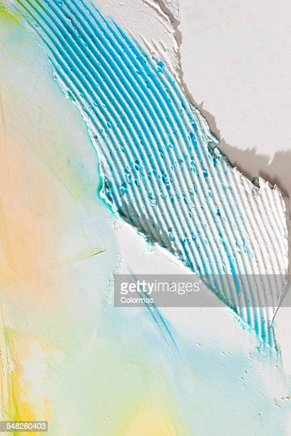 Colored paint smears