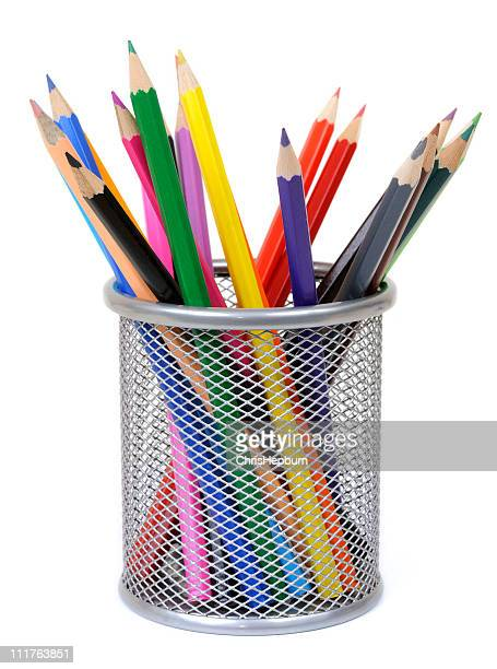 colored pencils - pencil case stock pictures, royalty-free photos & images