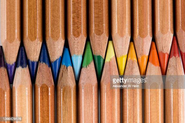 colored pencils - multi coloured stock pictures, royalty-free photos & images