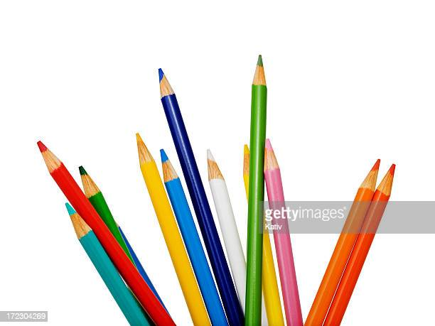 colored pencils - color pencil stock pictures, royalty-free photos & images