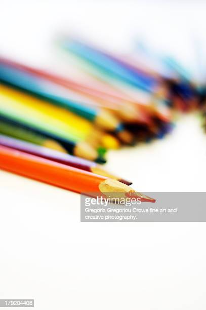 colored pencils - gregoria gregoriou crowe fine art and creative photography. stock pictures, royalty-free photos & images