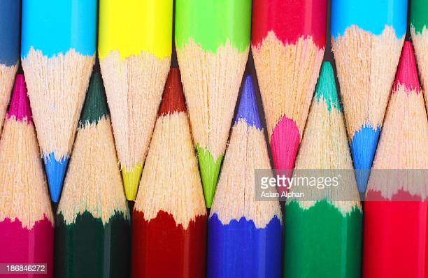colored pencils - pencil stock pictures, royalty-free photos & images
