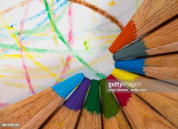 colored pencils - andy clement stock pictures, royalty-free photos & images