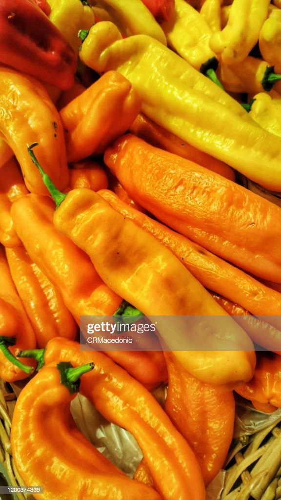 Colored peppers. : Stock Photo