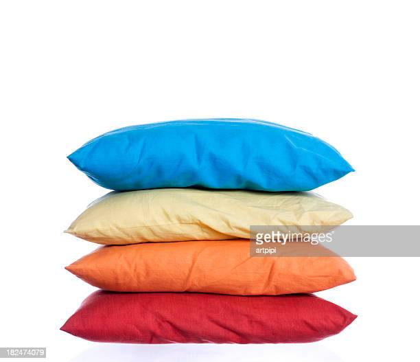 Colored pillows for sleeping and fun