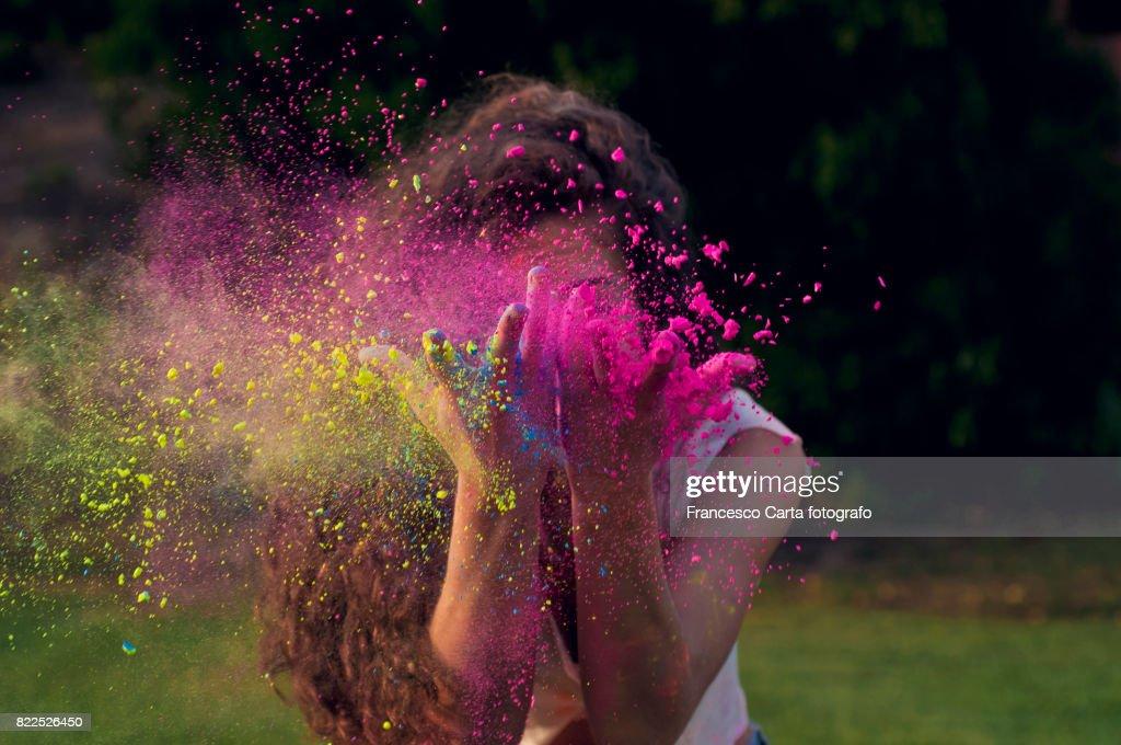 Colored portrait : Stock Photo