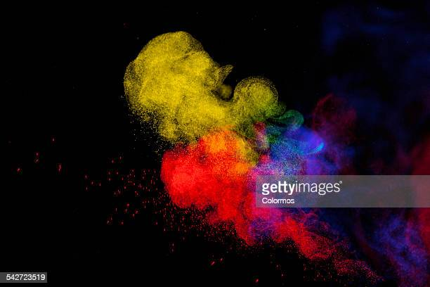 Colored powder motion