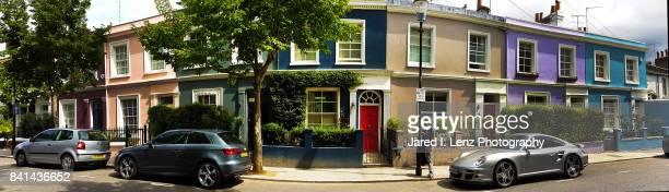 Colored Row Houses Panoramic (London)