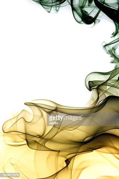 Colored smoke swirls