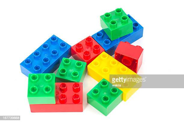 colored toy cubes - Bunte Bausteine