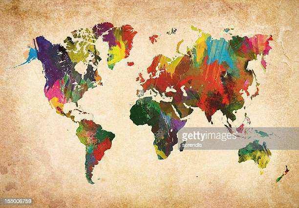 Colored World Map XXXL