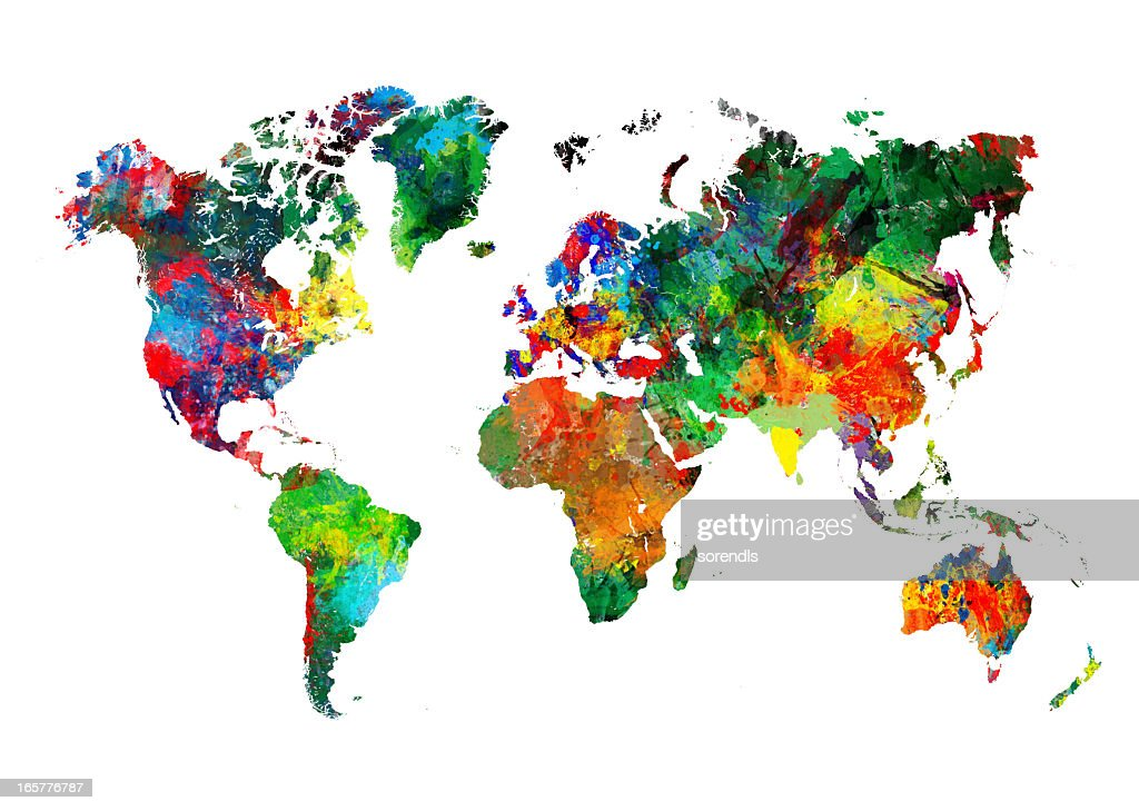 World map stock photos and pictures getty images colored world map xxxl gumiabroncs Images
