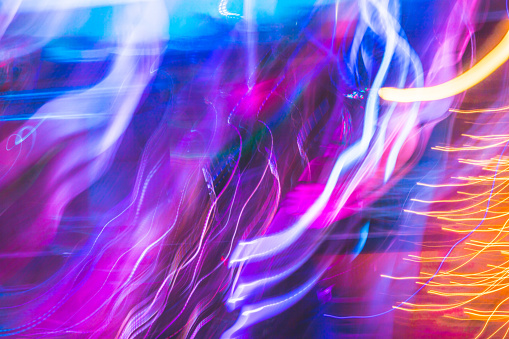 Colorful Abstract Background, Light Trail, Abstract Background, Purple Background, Colorful Background, Backgrounds - gettyimageskorea