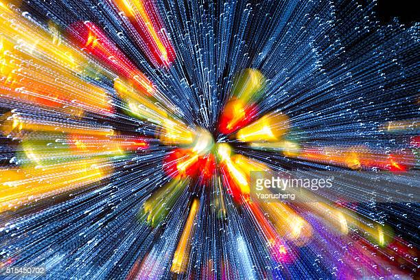 Colorful abstract background, using motion blur from holiday light