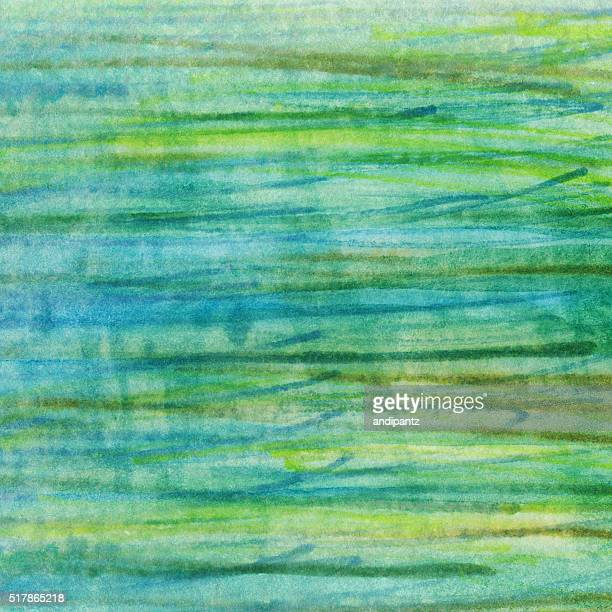 Colorful abstract background with lines of green and blue