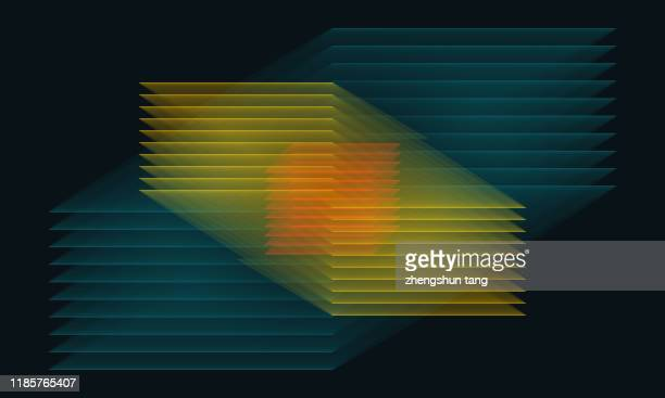 colorful abstract cube, tech background - ai stock pictures, royalty-free photos & images