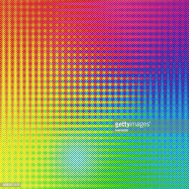 Colorful Abstract Halftone Background with Rainbow Colors
