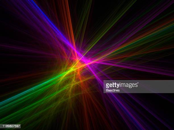 colorful abstract line art - laser light - atomic imagery stock pictures, royalty-free photos & images