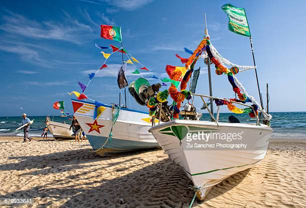 colorful algarve - algarve stock photos and pictures