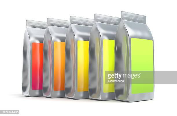 Colorful aluminum foil bag packaging