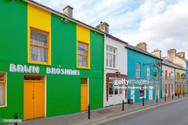 Colorful architecture in Dingle town, County Kerry, Republic of Ireland.