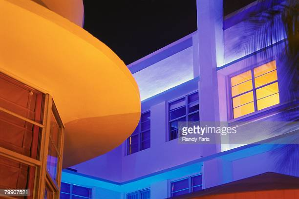 colorful art deco buildings - art deco stock pictures, royalty-free photos & images