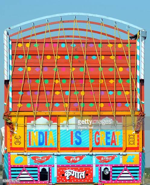 Colorful art on Indian Truck