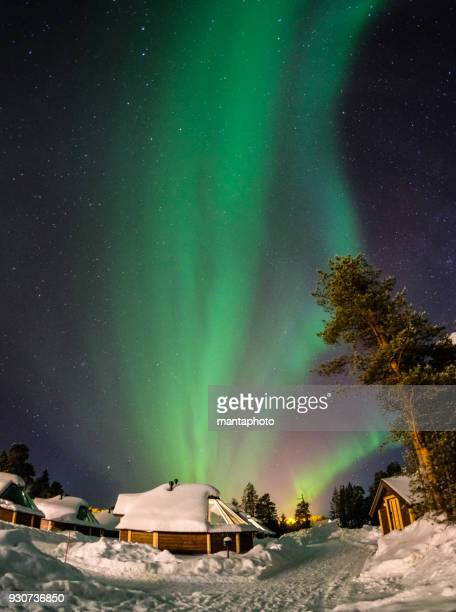 Colorful Aurora Borealis, Finland