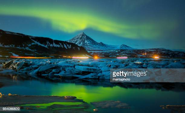 Colorful Aurora Borealis, Iceland