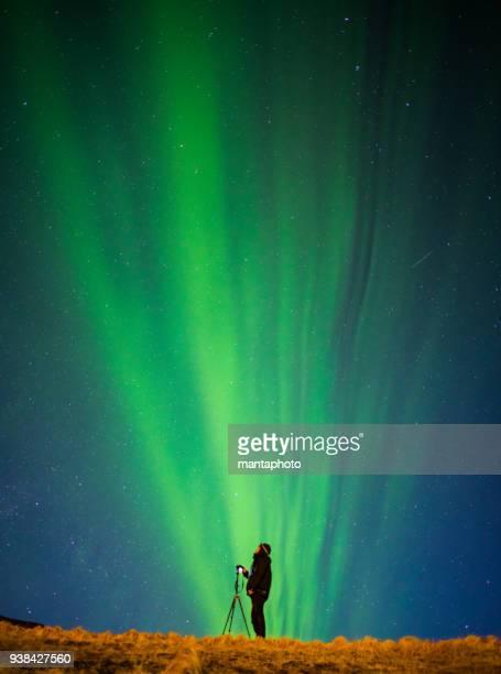 Bunte Aurora Borealis, Island