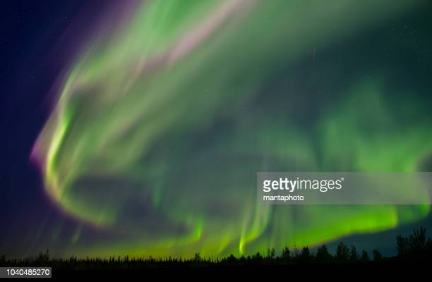 colorful aurora borealis - igloo stock pictures, royalty-free photos & images