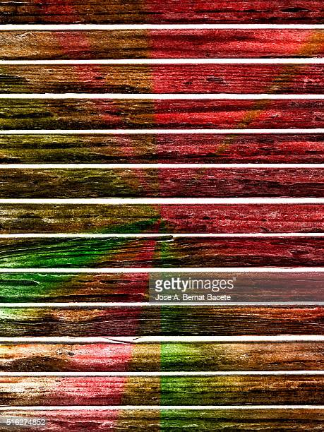 Colorful background of a wooden board sheet
