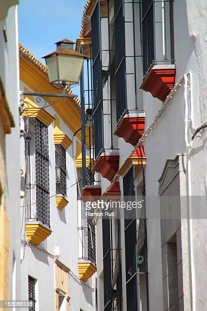 colorful balconies - carmona fotografías e imágenes de stock