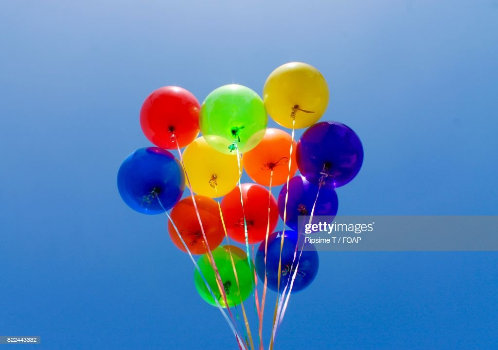 Colorful Balloons against blue sky : Stock Photo