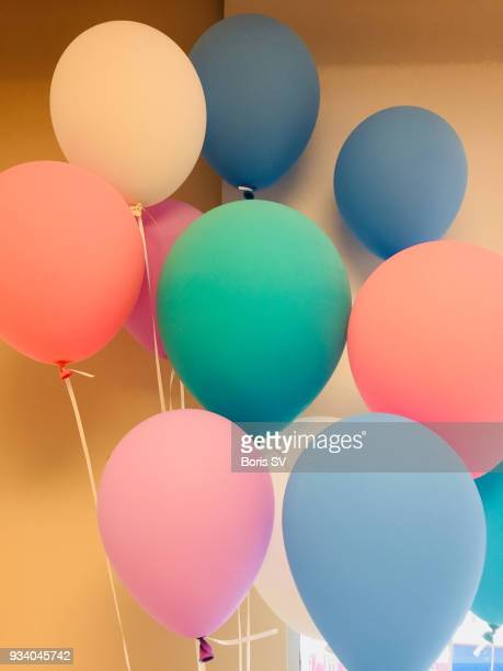 colorful balloons, backgrounds - birthday balloons stock photos and pictures