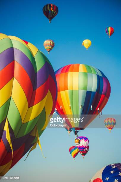 colorful balloons in air, reno, nevada, usa - nevada stock pictures, royalty-free photos & images