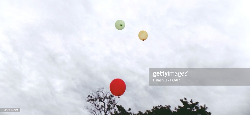 Colorful balloons in the sky : Stock Photo