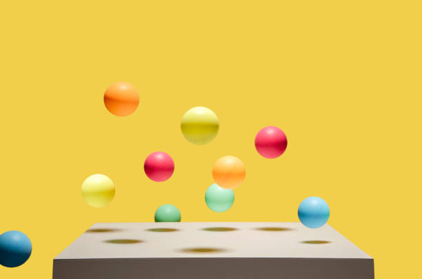 colorful balls bouncing