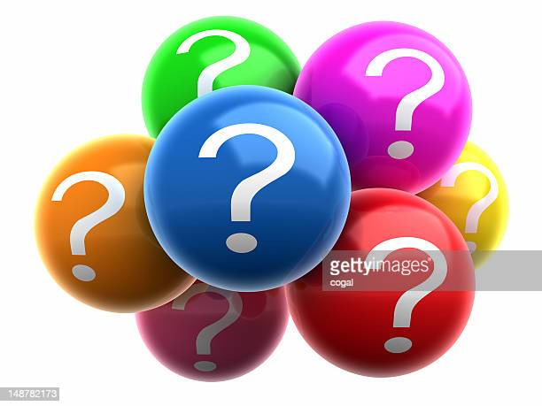 Colorful balls with Question Marks