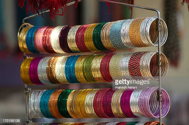 colorful bangles at the pushkar camel fair - bangle stock pictures, royalty-free photos & images