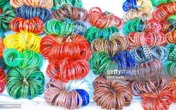 colorful bangles - neha gupta stock pictures, royalty-free photos & images