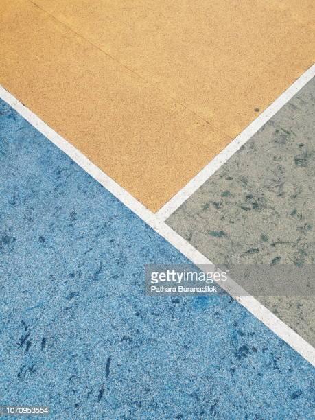 Colorful Basketball floor