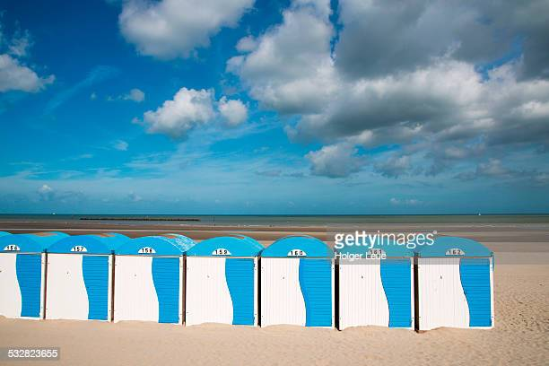 Colorful beach cabins at Malo-les-Bains beach