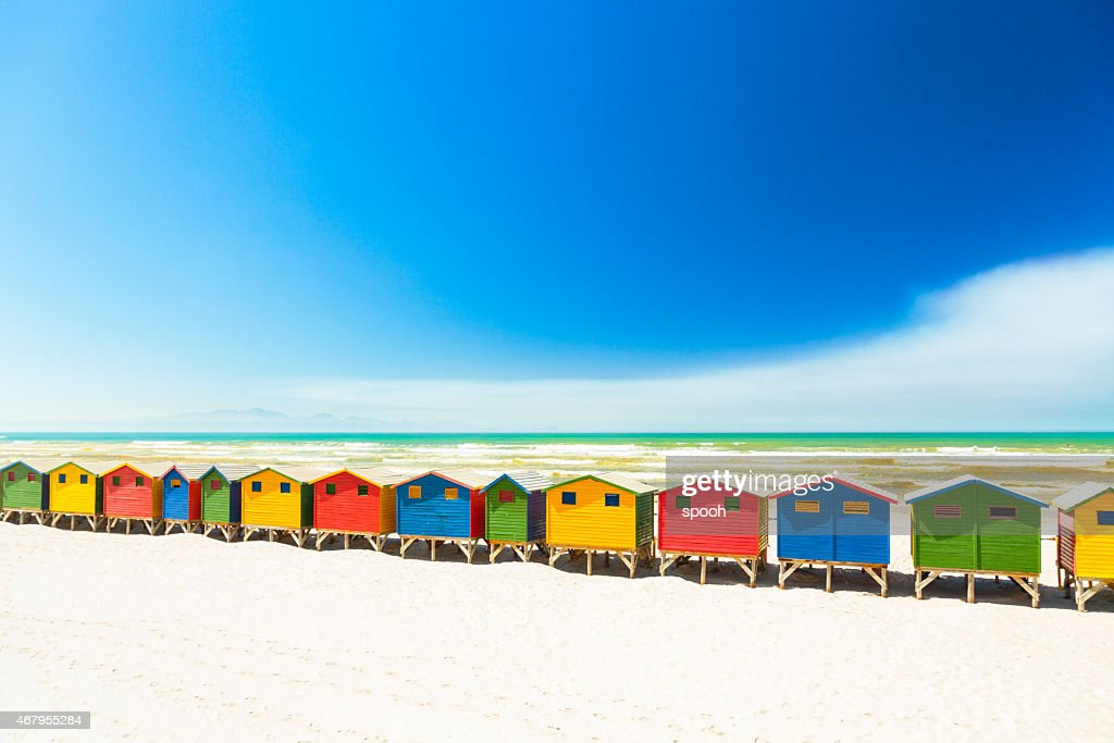 Colorful Beach Houses In Muizenberg Cape Town South Africa