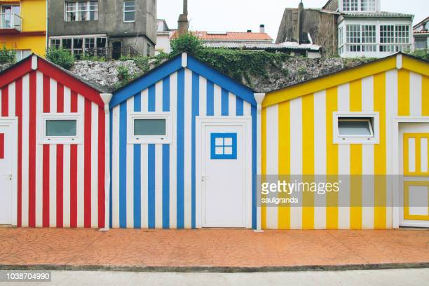 Colorful beach huts